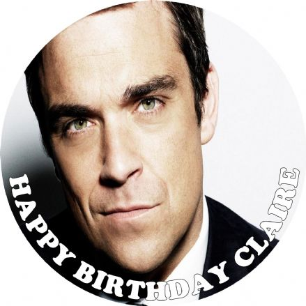 Robbie Williams Edible Cake Topper
